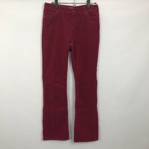 Coldwater Creek Bootcut Corduroy Pants Burgundy